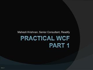 Practical WCF Part 1