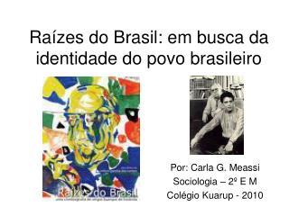 Ra zes do Brasil: em busca da identidade do povo brasileiro