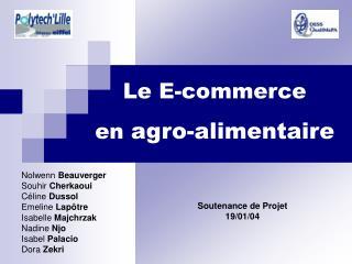 Le E-commerce  en agro-alimentaire