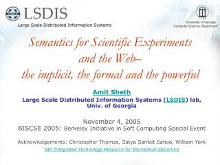 Semantics for Scientific Experiments and the Web   the implicit, the formal and the powerful