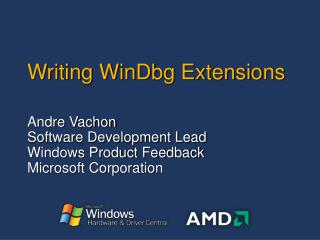 Writing WinDbg Extensions