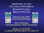 Mobilization to Face The Crisis of HIV