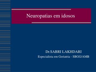 Neuropatias em idosos
