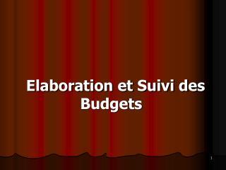 Elaboration et Suivi des Budgets