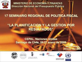 MINISTERIO DE ECONOMIA Y FINANZAS Direcci n Nacional del Presupuesto P blico