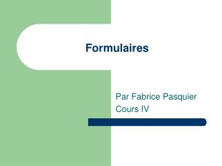 Formulaires