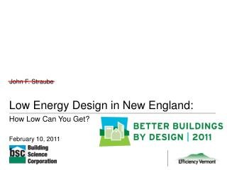 Low Energy Design in New England: