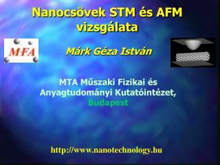 Nanocs vek STM  s AFM vizsg lata