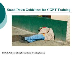 Stand Down Guidelines for CGET Training