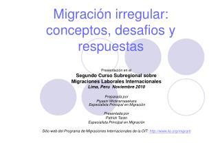 Migraci n irregular: conceptos, desafios y respuestas