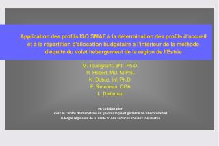 Application des profils ISO SMAF   la d termination des profils daccueil et   la r partition dallocation budg taire   li