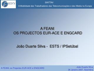 A FEANI   OS PROJECTOS EUR-ACE E ENGCARD   Jo o Duarte Silva -  ESTS