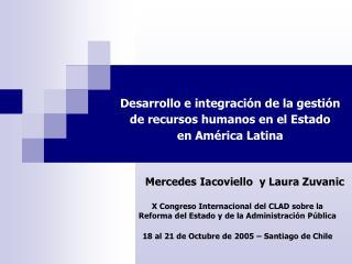 Desarrollo e integraci n de la gesti n de recursos humanos en el Estado  en Am rica Latina
