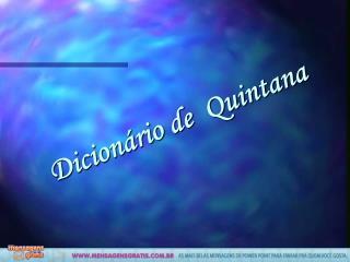 Dicion rio de  Quintana
