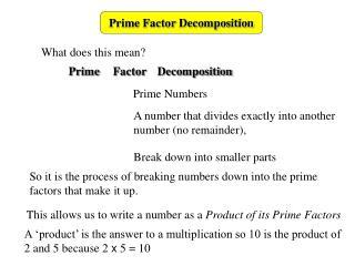 Prime Factor Decomposition