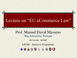 Lecture on  EU eCommerce Law