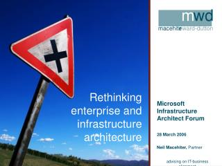 Rethinking enterprise and infrastructure architecture