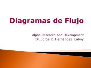 Diagramas de Flujo Alpha Research And Development Dr. Jorge R. Hern ndez  Laboy