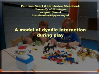A model of dyadic interaction during play