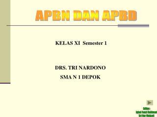 KELAS XI  Semester 1