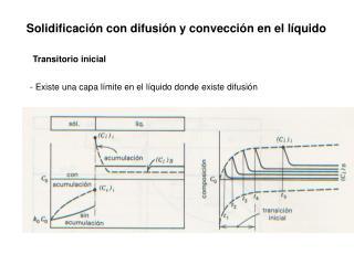 Solidificaci n con difusi n y convecci n en el l quido