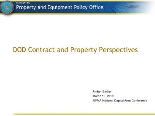 DOD Contract and Property Perspectives