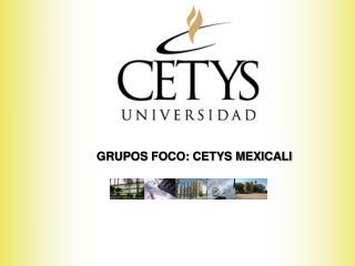 GRUPOS FOCO: CETYS MEXICALI