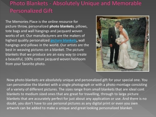 Photo Blankets – A Memorable Way to Cherish Your Photo Memor