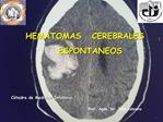 HEMATOMAS   CEREBRALES     ESPONTANEOS