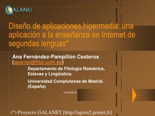Dise o de aplicaciones hipermedia: una aplicaci n a la ense anza en Internet de segundas lenguas