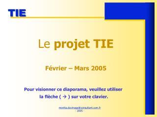 Le projet TIE  F vrier   Mars 2005