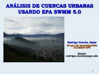 AN LISIS DE CUENCAS URBANAS  USANDO EPA SWMM 5.0