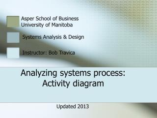 Analyzing systems process: Activity diagram