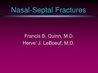 Nasal-Septal Fractures