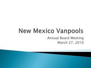 New Mexico Vanpools