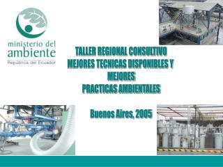 TALLER REGIONAL CONSULTIVO MEJORES TECNICAS DISPONIBLES Y  MEJORES PRACTICAS AMBIENTALES  Buenos Aires, 2005