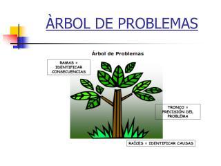 RBOL DE PROBLEMAS