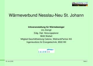 W rmeverbund Nesslau-Neu St. Johann