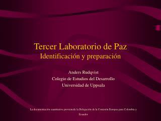 Tercer Laboratorio de Paz Identificaci n y preparaci n