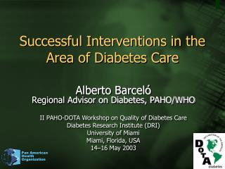 Successful Interventions in the Area of Diabetes Care