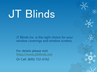 JT Blinds makes new look