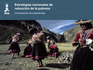 Estrategias nacionales de  reducci n de la pobreza  Comparaci n de experiencias