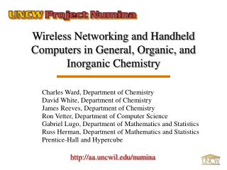 Wireless Networking and Handheld Computers in General, Organic, and Inorganic Chemistry