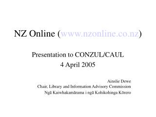 NZ Online www.nzonline.co.nz