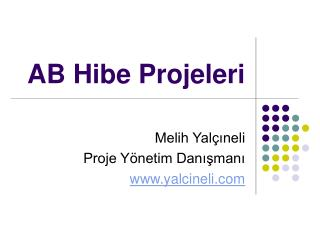 AB Hibe Projeleri