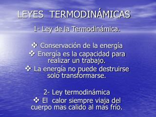 LEYES  TERMODIN MICAS