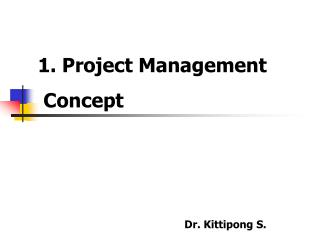1. Project Management  Concept