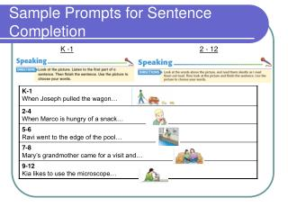 Sample Prompts for Sentence Completion