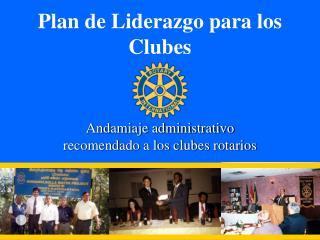 Plan de Liderazgo para los Clubes