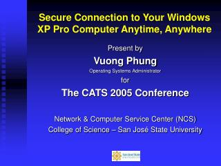 Secure Connection to Your Windows XP Pro Computer Anytime
